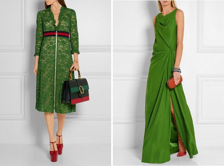 green dress leopard shoes